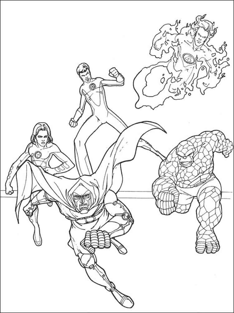 fantastic four coloring pages to print   Fantastic Four coloring pages. Free Printable Fantastic ...