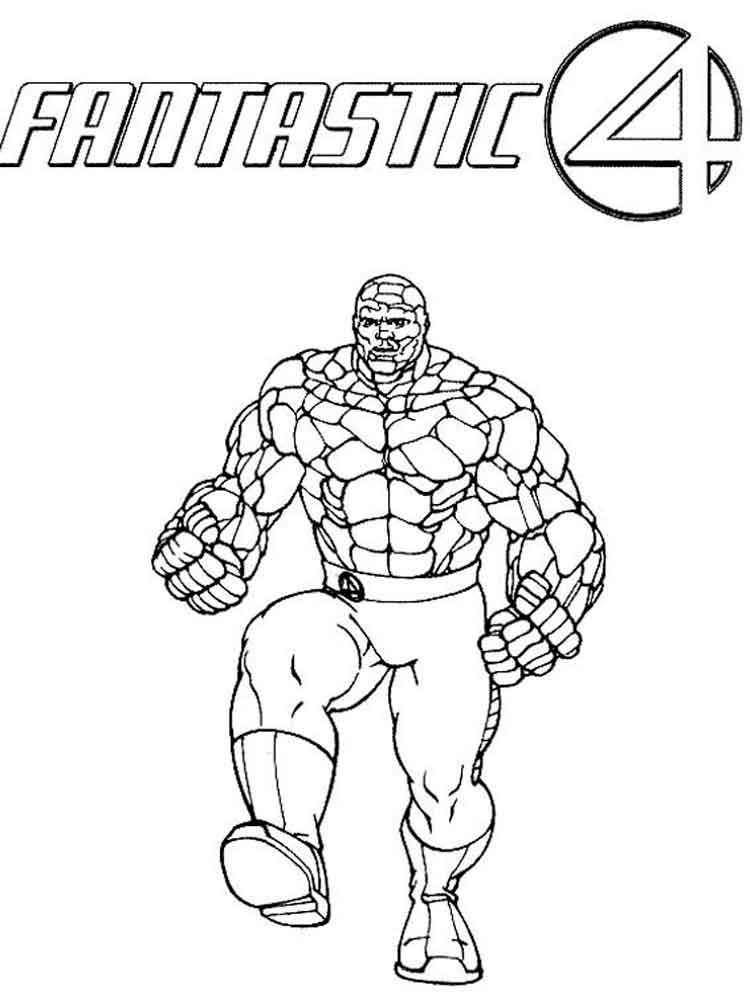 Fantastic Four Coloring Pages Free Printable Fantastic