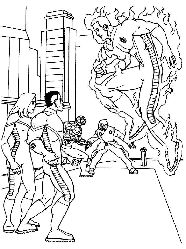Fantastic Four Coloring Pages Free Printable Fantastic Four