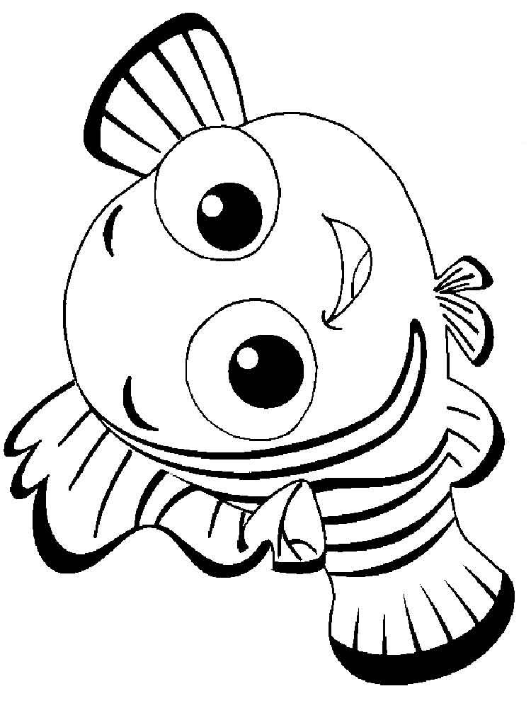 Finding Nemo Coloring Pages For Kids Free Printable