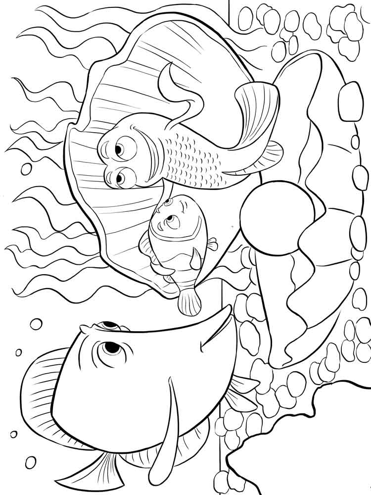 Finding Nemo coloring pages for