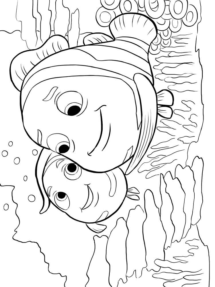 finding nemo coloring pages for kids free printable finding nemo coloring pages