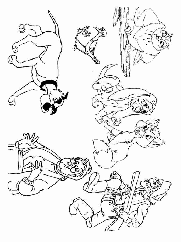 fox and hound coloring pages - photo#20