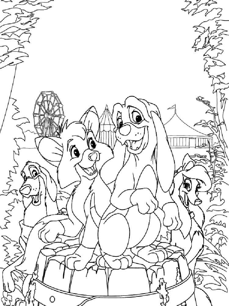 Fox And The Hound Coloring Pages 9