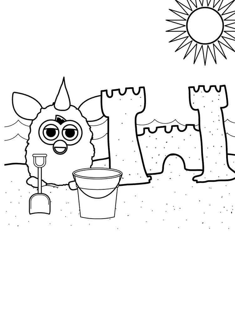 furby cartoon coloring pages | Furby coloring pages. Download and print Furby coloring pages.