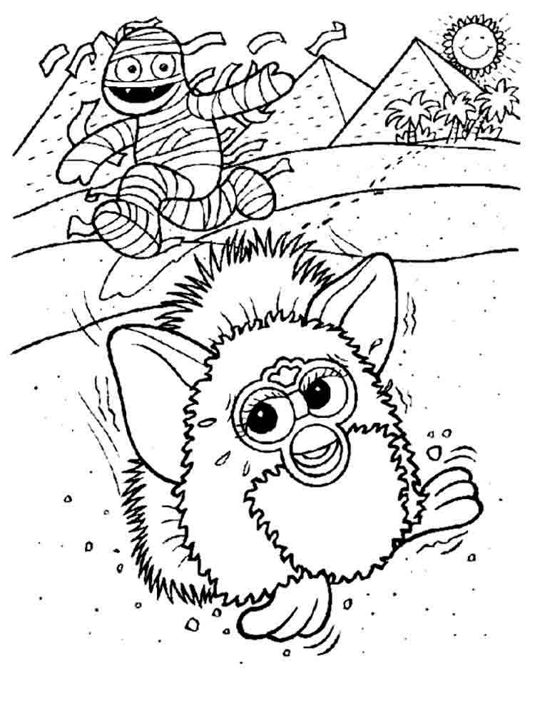 Volwassen Kleurplaat Boom Furby Coloring Pages Download And Print Furby Coloring Pages