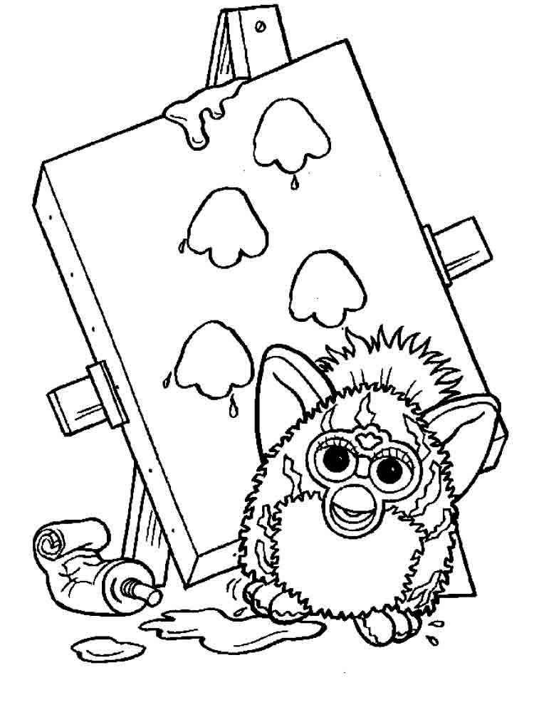 Furby Coloring Pages Download And Print Furby Coloring Pages