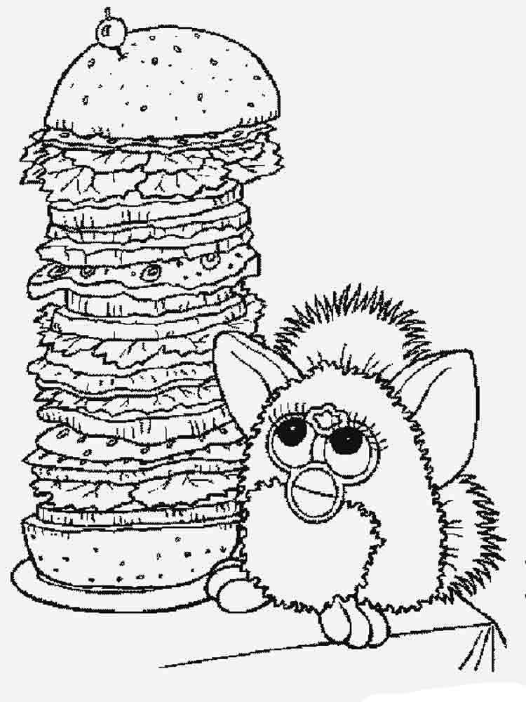 furby coloring pages and print furby coloring pages