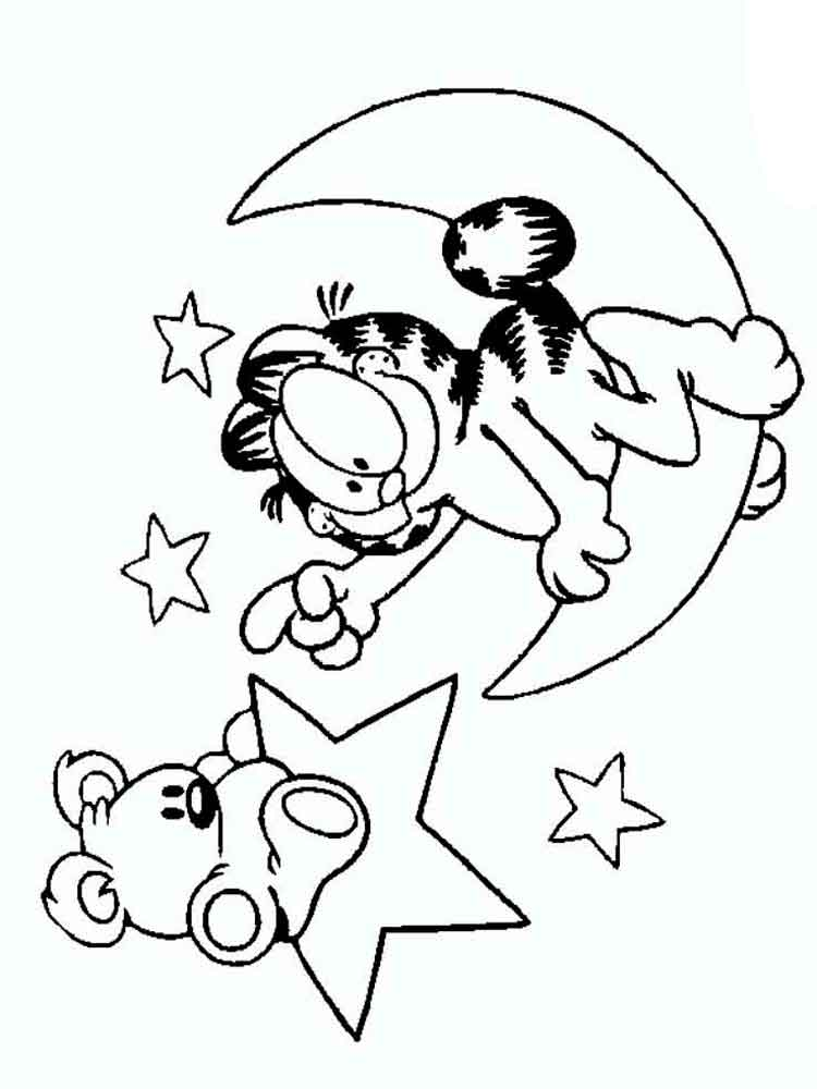 Garfield Coloring Pages Download And Print Garfield Coloring Pages