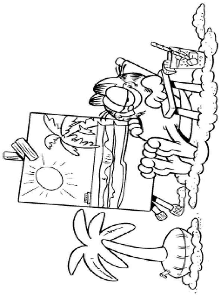 garfield coloring pages 25