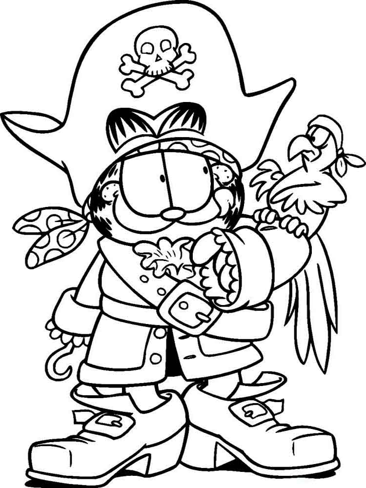 garfield comics coloring pages - photo#16