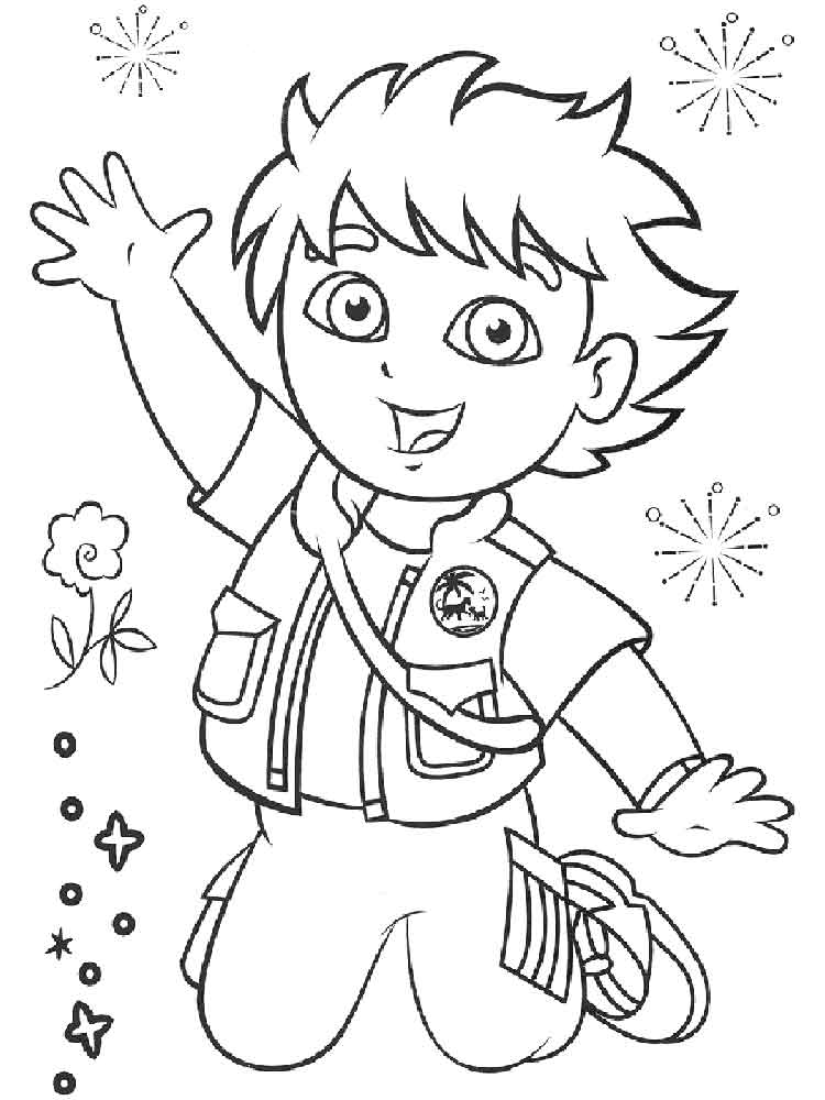 go dog go coloring pages | Go, Diego, go! coloring pages. Free Printable Go, Diego ...