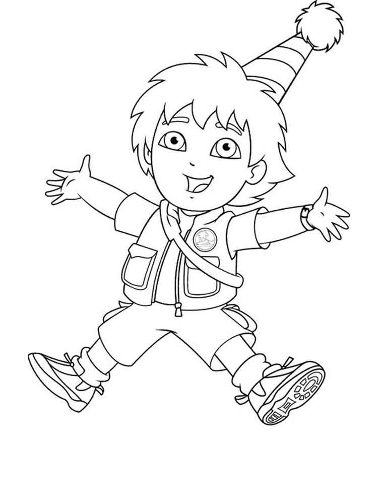 Go Diego go coloring pages Free Printable Go Diego