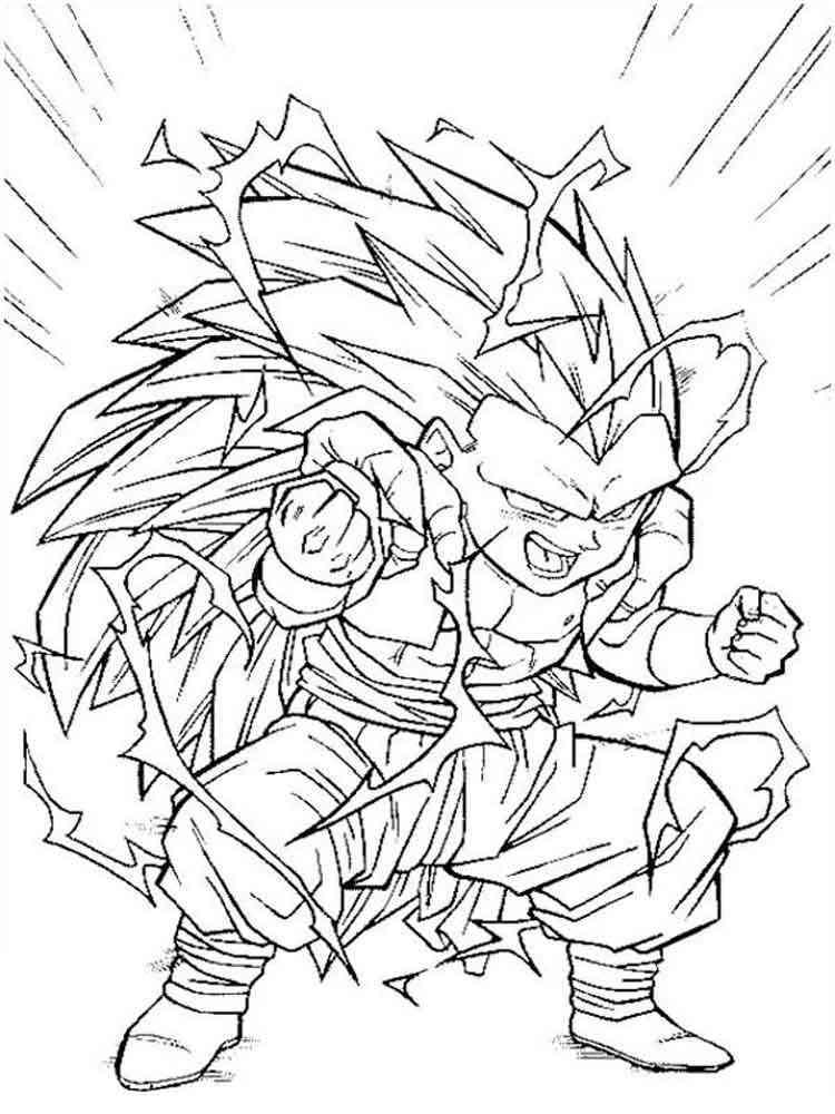Goten Super Saiyan coloring pages