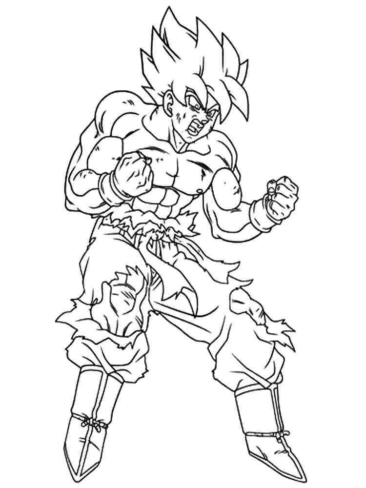 Kid gotenk and kid trunks super sainy free coloring pages for Super saiyan trunks coloring pages