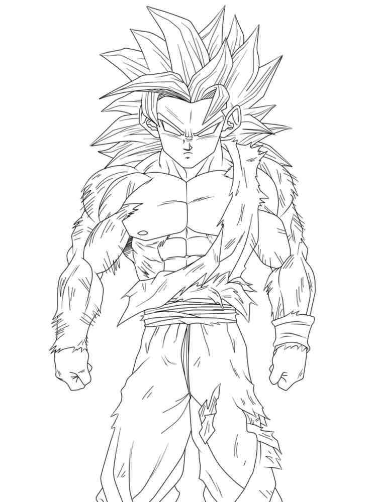 Goten Super Saiyan coloring pages Free Printable Goten