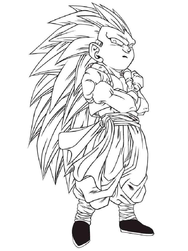 Goten Super Saiyan coloring pages. Free Printable Goten ...