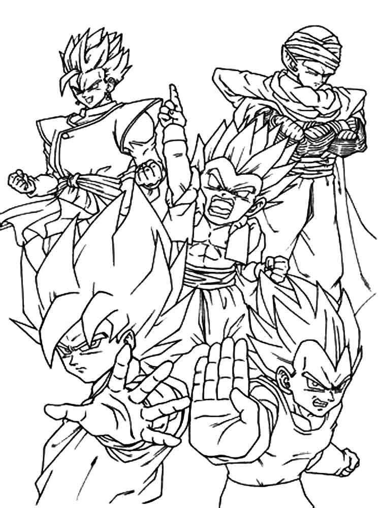 goten coloring pages - photo#36