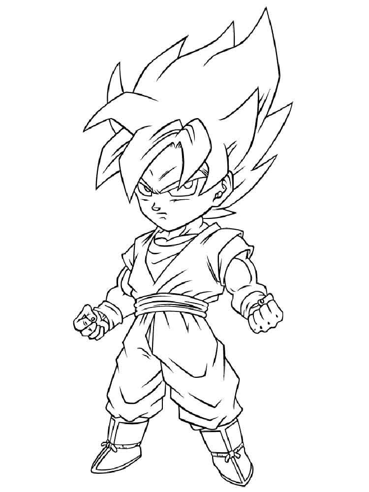 goten coloring pages - photo#24