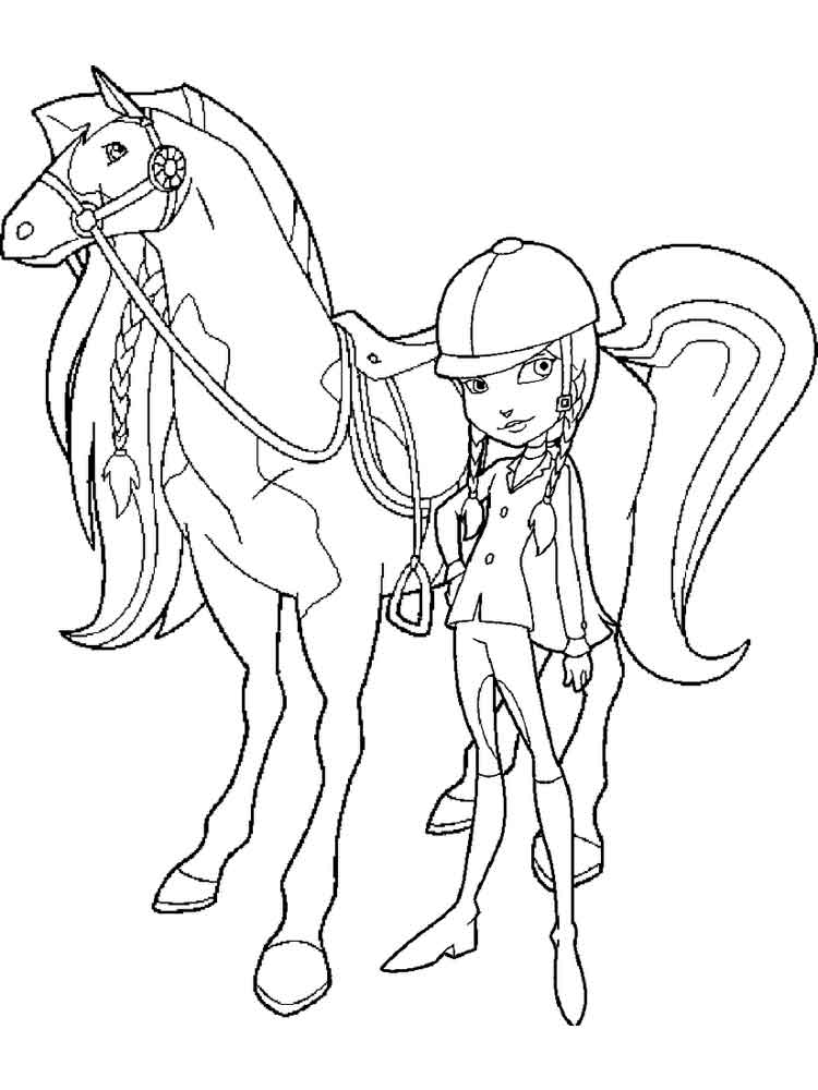 Horseland Coloring Pages Miakenasnet