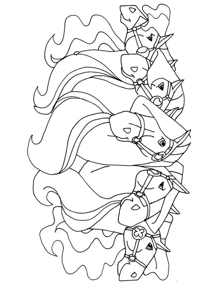 HD wallpapers horseland coloring pages sunburst sweet-love ...