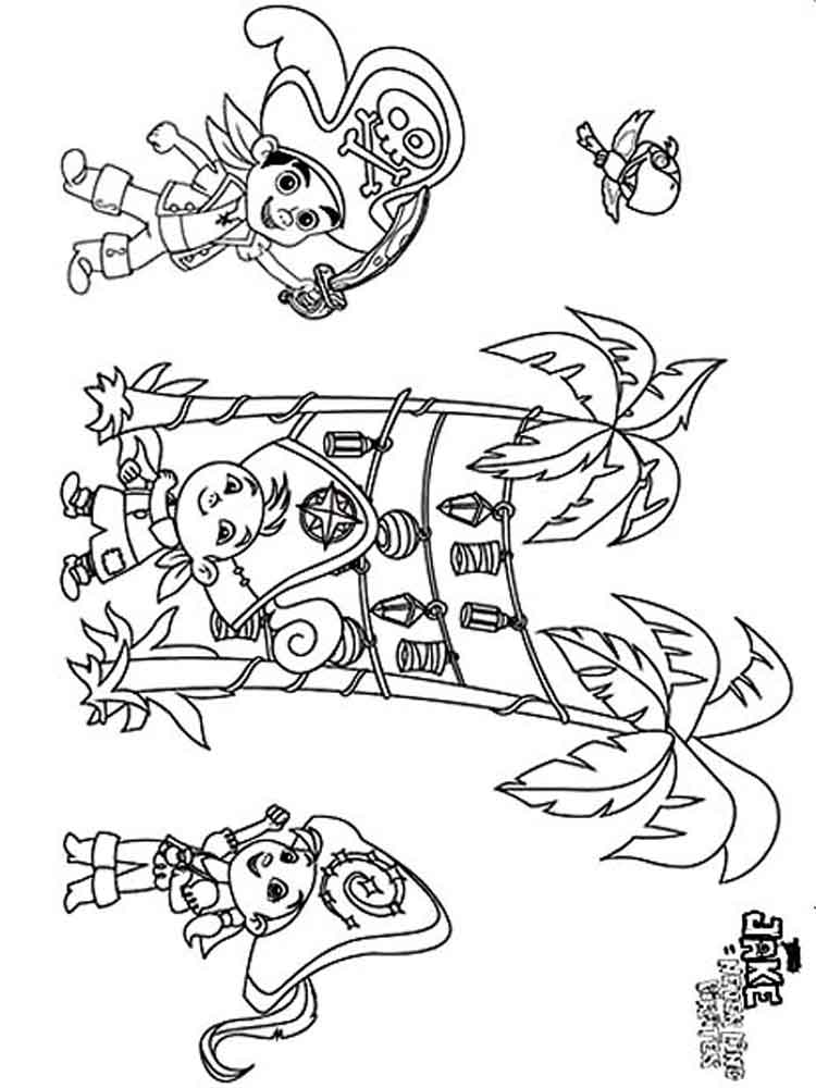 life is good by jake coloring pages | Jake and the Never Land Pirates coloring pages. Free ...