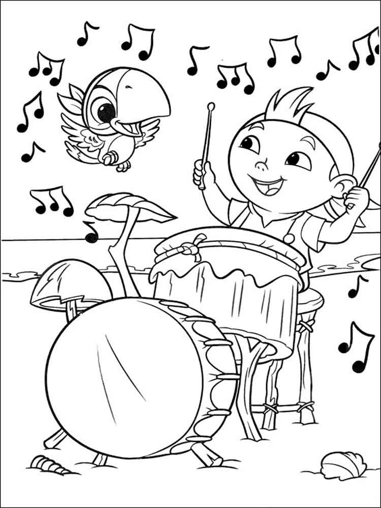 Jake and the never land pirates coloring pages free for Jake and the pirates coloring pages
