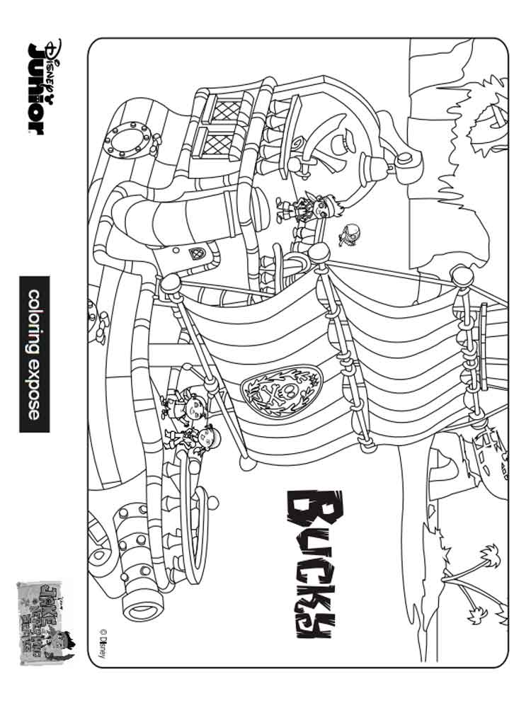 Jake And The Never Land Pirates Coloring Pages Free