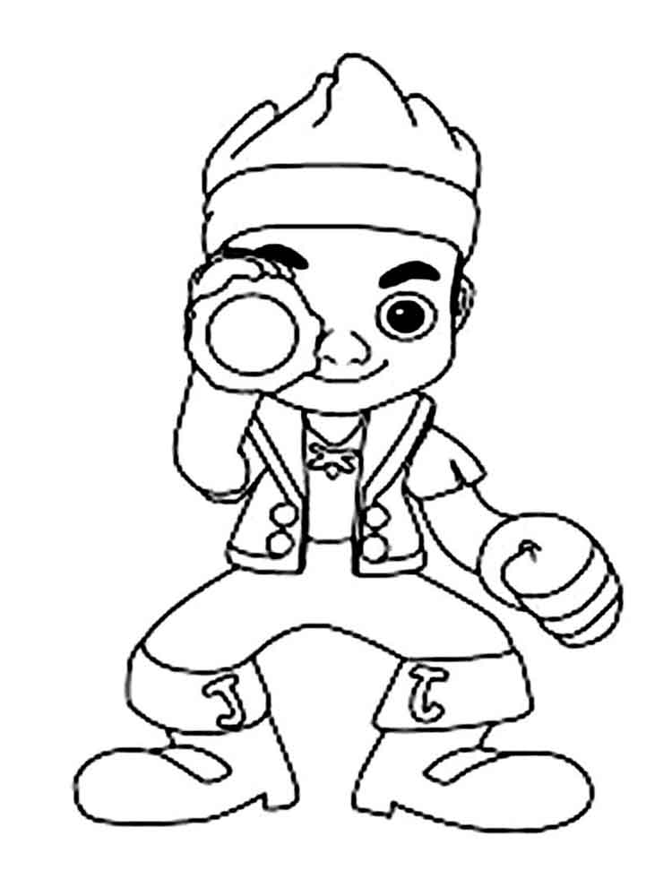 Jake and the never land pirates coloring pages free for Jake the pirate coloring pages