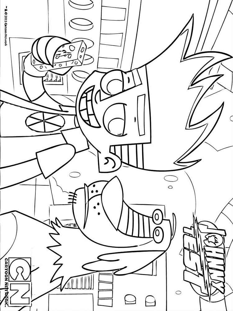 Johnny Test Coloring Pages To Print  Vosvetenet