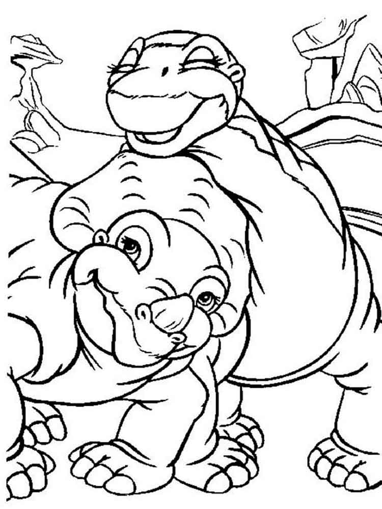 Land Before Time Coloring Pages. Free Printable Land Before Time Coloring  Pages.