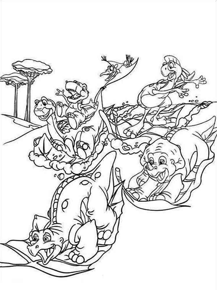 Land Before Time coloring pages