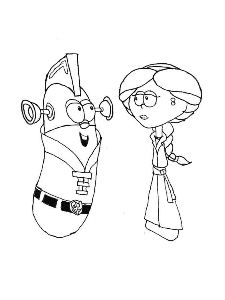 Larry Boy Coloring Pages Free Printable Larry Boy Larry Boy Coloring Pages