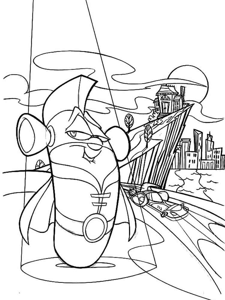 Larry Boy Coloring Pages Free Printable Larry Boy