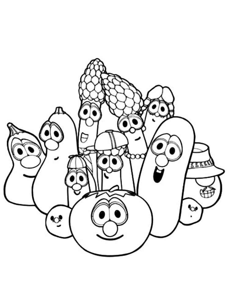 Larry Boy coloring pages Free
