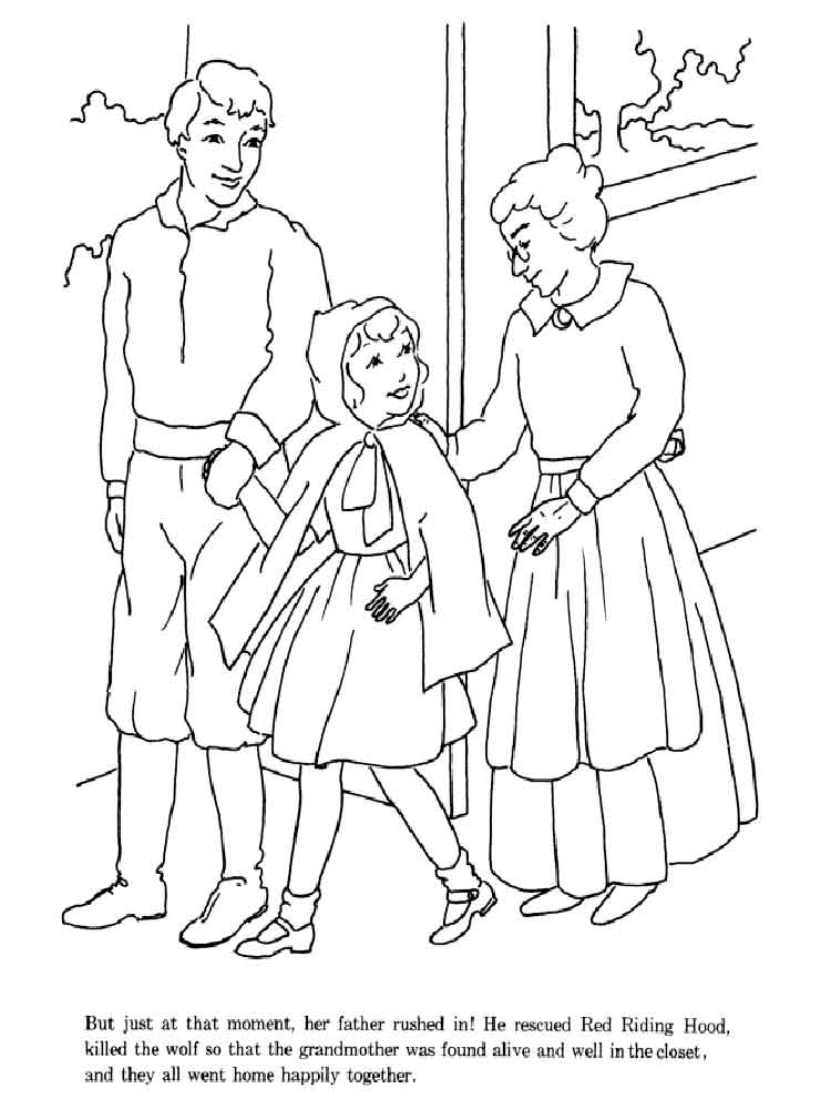 little red riding hood coloring pages 2