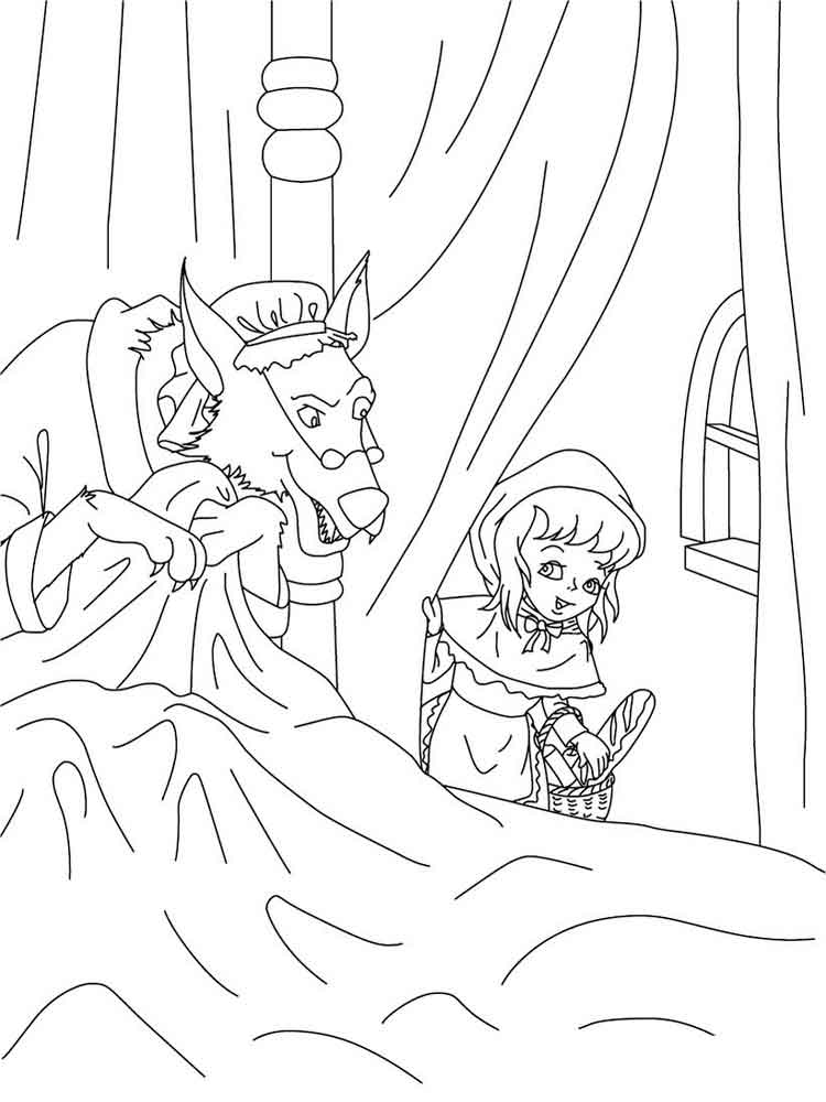 Little Red Riding Hood Coloring Pages Free Printable