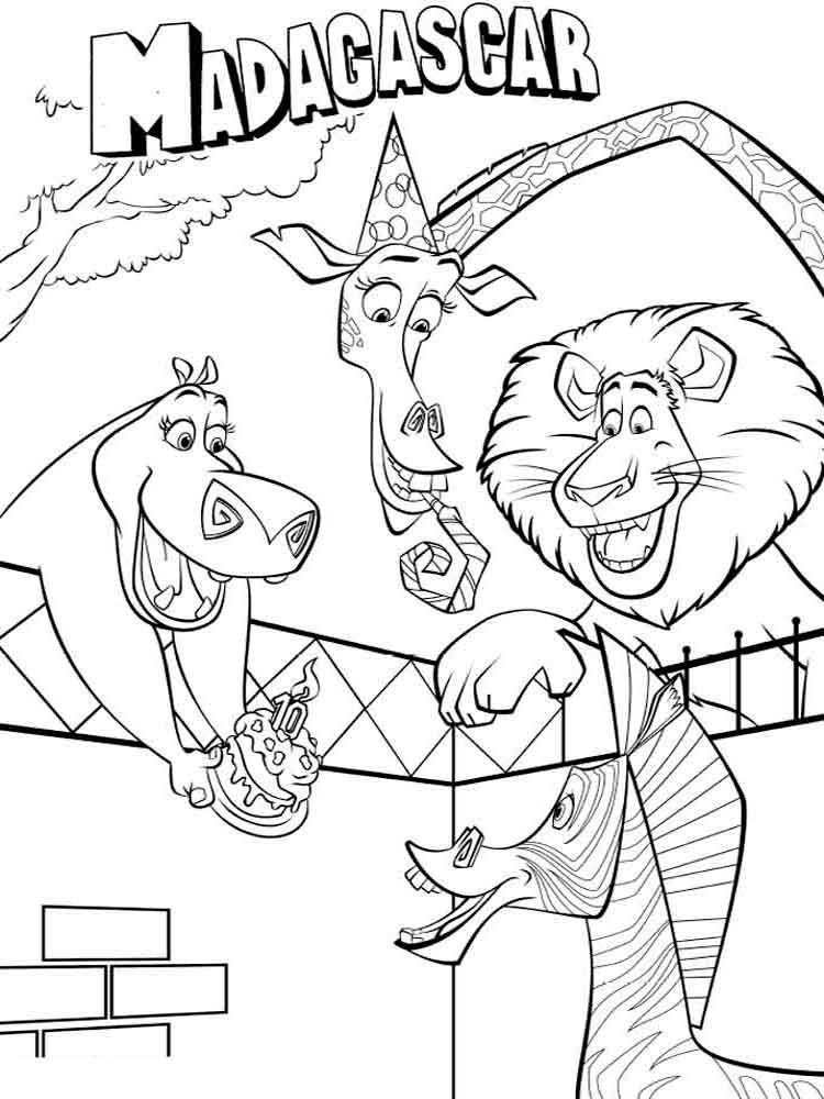Madagascar coloring pages Download