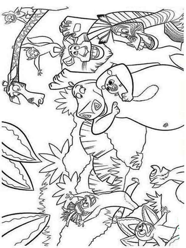 Madagascar coloring pages. Download and print Madagascar ...