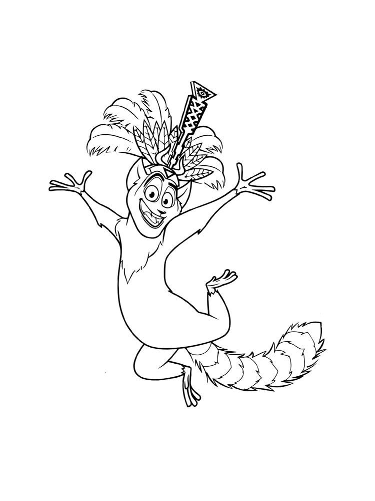 Madagascar Coloring Pages Download And Print Madagascar