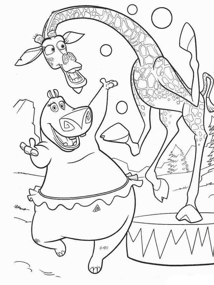 madagascar movie characters coloring pages | Madagascar coloring pages. Download and print Madagascar ...