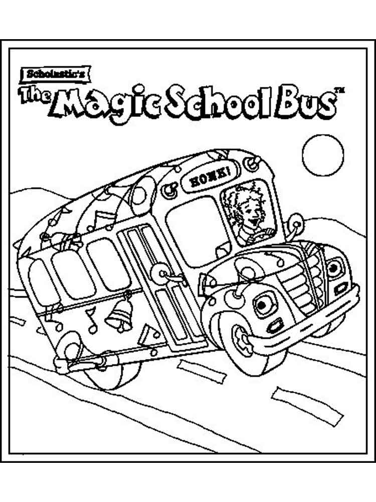 Magic School Bus Coloring Pages. Free Printable Magic School Bus Coloring  Pages.