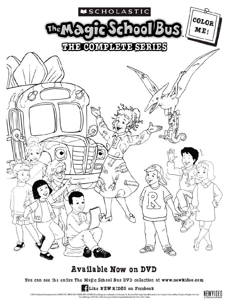 Magic School Bus coloring pages Free Printable Magic School Bus