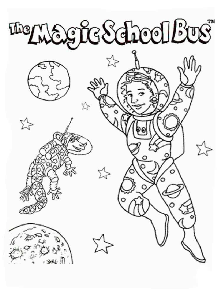 magic school bus coloring pages 3 - School Bus Coloring Pages