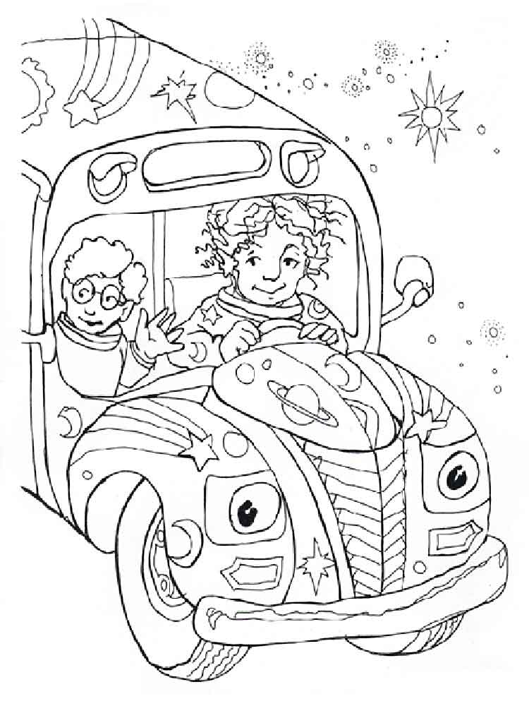 Magic School Bus coloring pages. Free Printable Magic ...