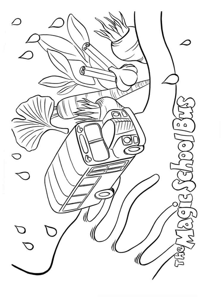 Magic School Bus coloring pages. Free Printable Magic School Bus ...