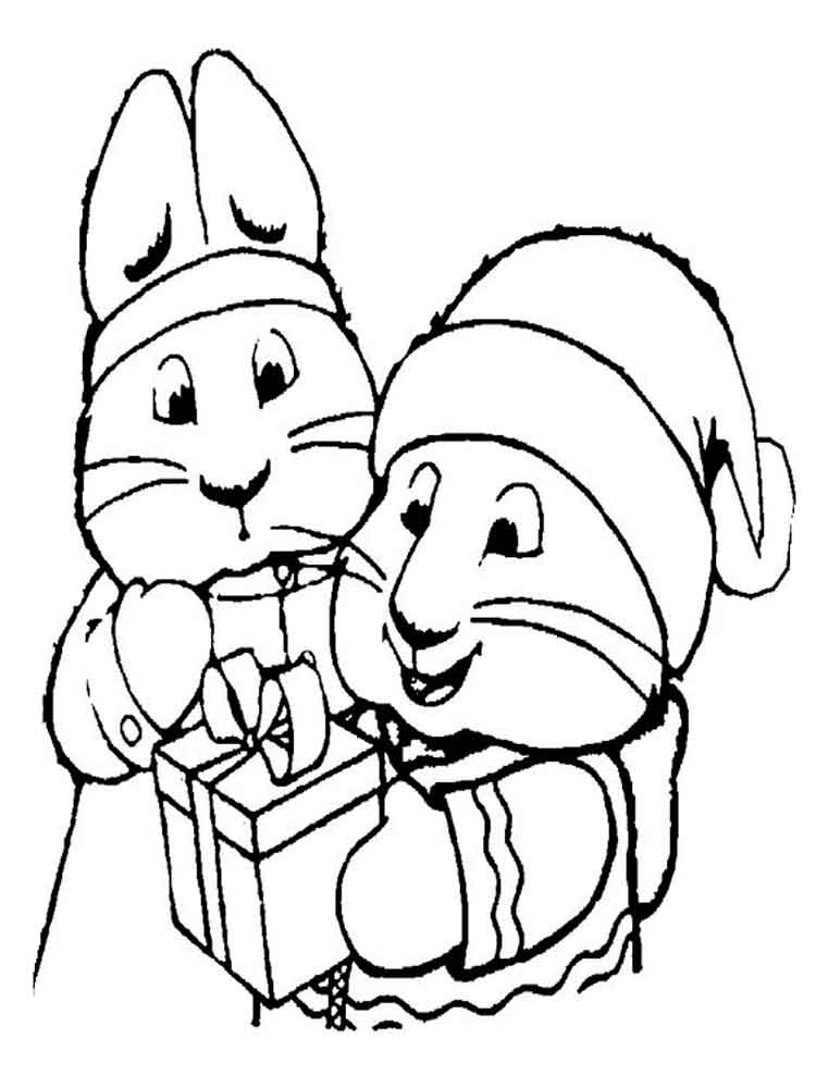 Max And Ruby Bunny Cakes Coloring Pages | Free Here