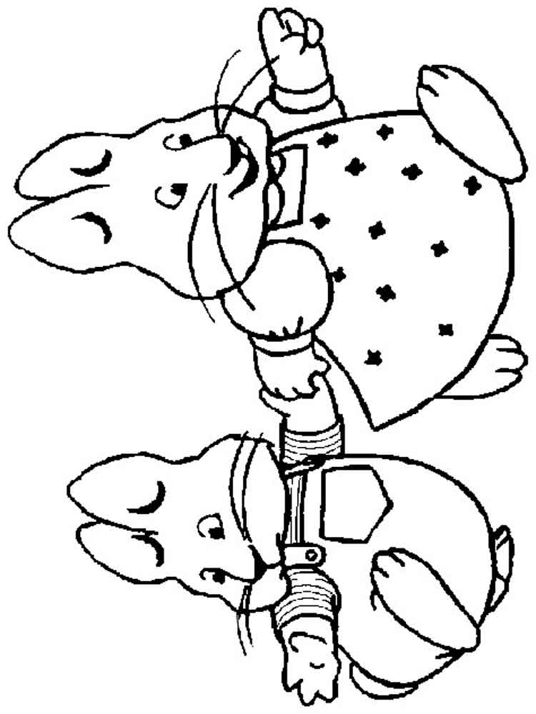 Max And Ruby Coloring Pages Free Printable Max And Ruby