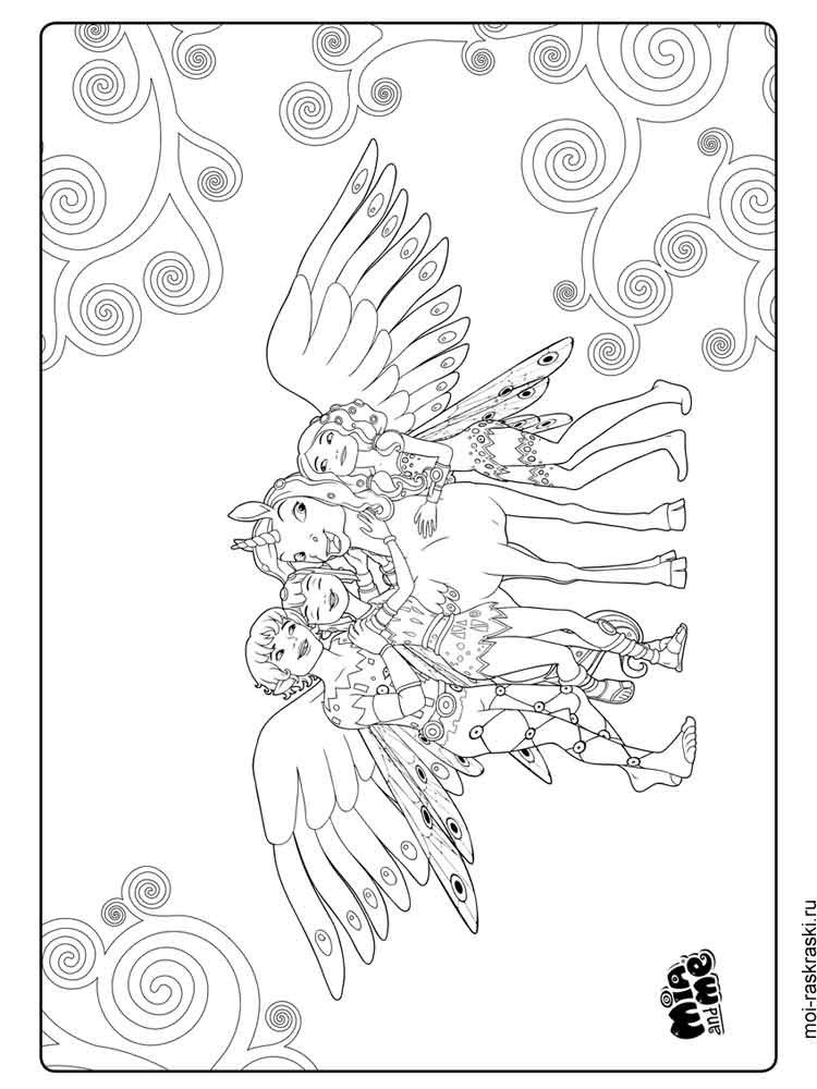 Mia and me coloring pages Free