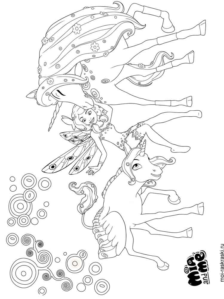 mia and me coloring pages. free printable mia and me